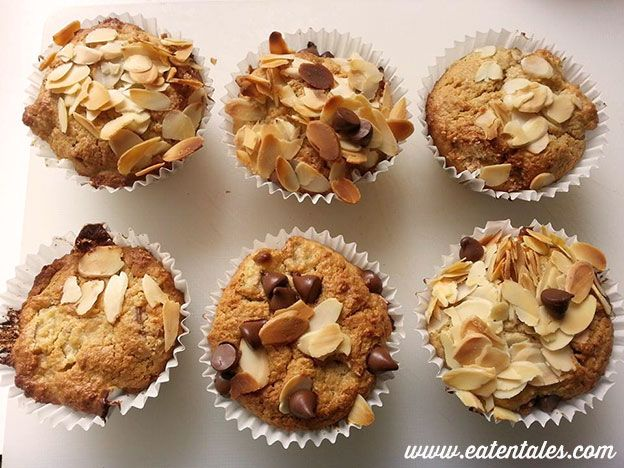 Luella and Max's Pear, Almond and Choc Chip muffins