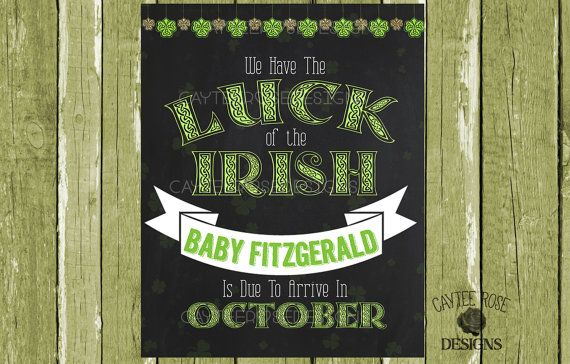 We Have The Luck Of The Irish  Chalkboard by CayteeRoseDesigns