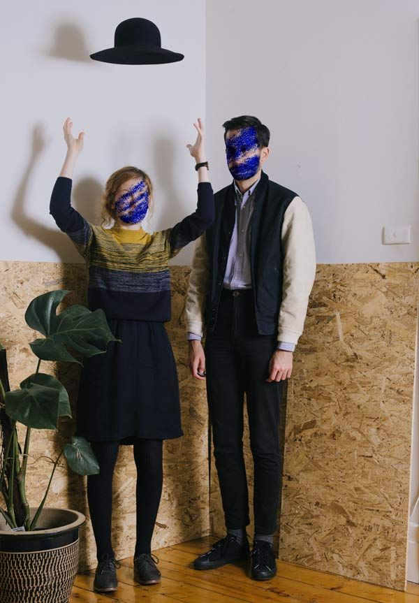 'When Magritte took our photo' Photo: trying not to match