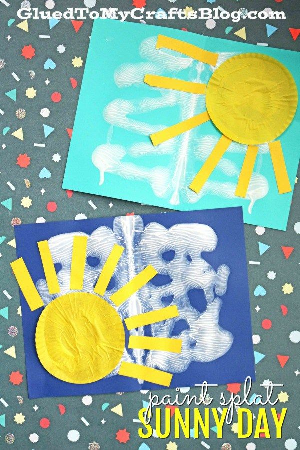 Mixed Media Sunny Day Kid Craft Idea With Images Summer