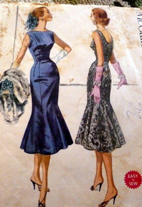 LOVELY VTG 1950s FLOUNCE DRESS McCALLS Sewing Pattern 12/30