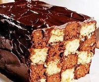 Receita de bolo xadrez de chocolate - Show de Receitas