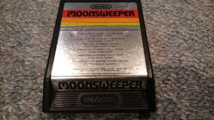"Atari 2600 Game ""Moonsweeper"" Text Label"