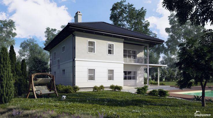Тренд-207 Проект двухэтажного дома с монолитным перекрытием