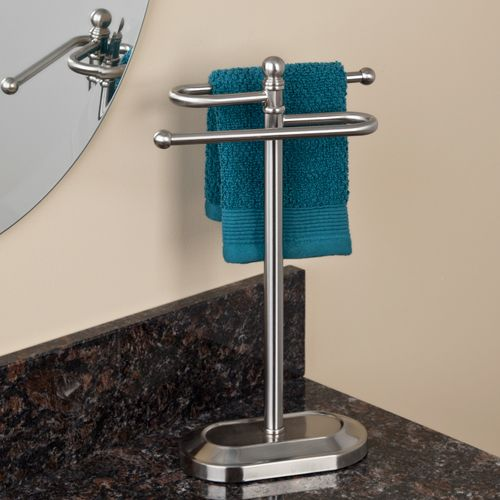 Delia single hole bathroom faucet with pop up drain for Bathroom hand towel holder