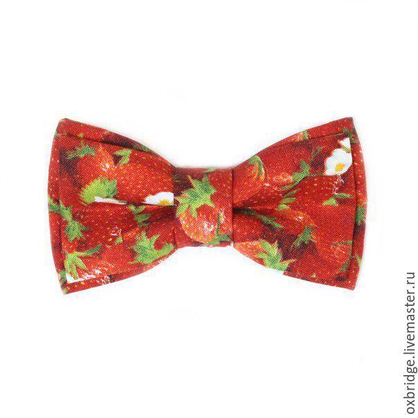 Купить Галстук-бабочка Клубника / Бабочка галстук красный / Бабочка красная