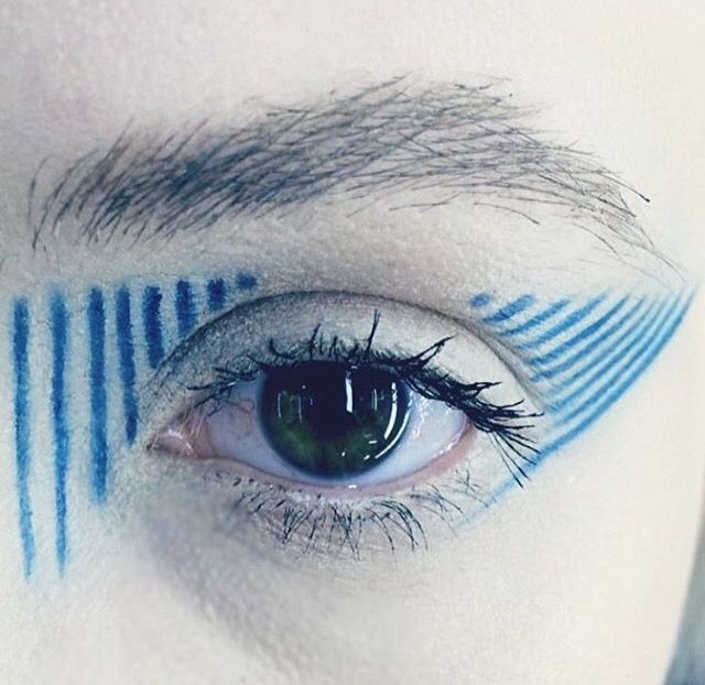 Blue Striped Eye Design