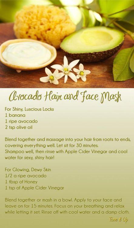 Avocado Hair and Face Mask