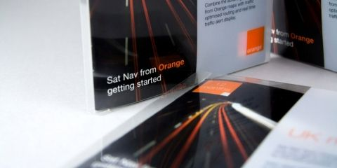 In this legacy project, we created in-store marketing collateral for Orange's satellite navigation product.
