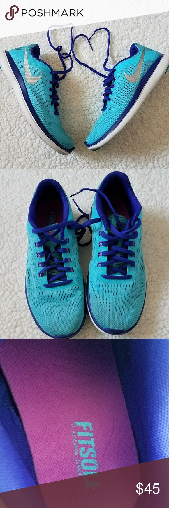 Nike Flex 2016 rn 🔹 Like New Condition 🔹 These shoes are a beautiful blue and purple color. Sure to capture anyone's attention. 🔹 Perfect for the gym, or for errands. 🔹 Super comfortable and flexible. 🚫 Trades  ***** These were the display model at a local store. Original box NOT included. Nike Shoes Athletic Shoes