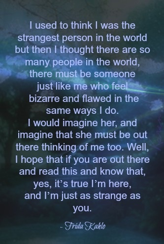 Strange, flawed human by Frieda Kahlo, with Flaws and All By Karen