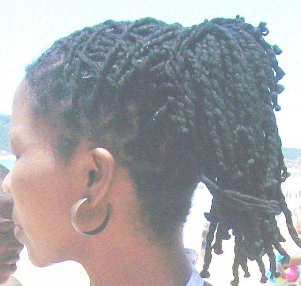 Roset Updo for Black Women | dreadlocks updo 40 Natural Hair Styles For Black Women Which Are Cool