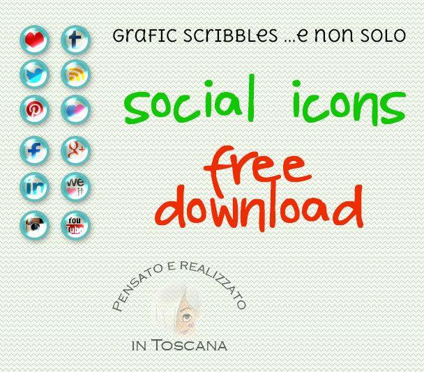 Set of icons social-free downlad http://graficscribbles.blogspot.it/…/iconesociali-bottoniso… #socialicon #socialnetwork