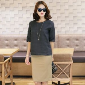 Republic of Korea reigning Women's Clothing Store [CANMART] Do zip blouse / Size : FREE,M / Price : 39.87 USD #korea #fashion #style #fashionshop #apperal #koreashop #missy #canmart #top #shirts #blouse #zipupshirts #dailylook