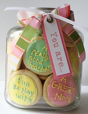 """You Are..."" Mothers Day Cookies that are creative and meaningful, which we're sure she will love!"