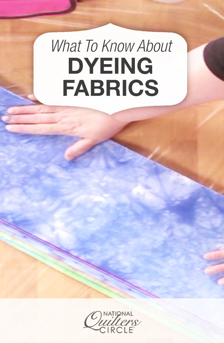 Heather Thomas loves the idea of making her own color through dyeing fabric that she can use in her own quilts.