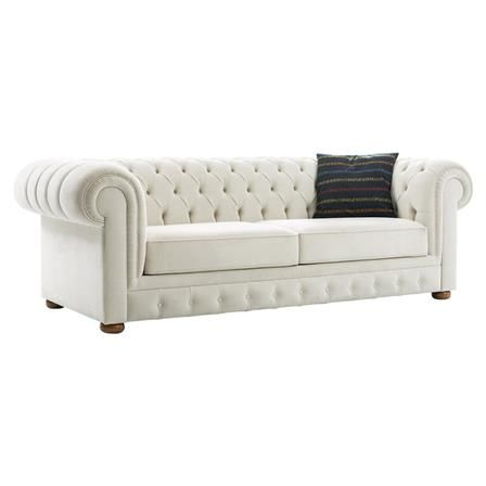Cupon 2 Seater Velvet Sofa, White