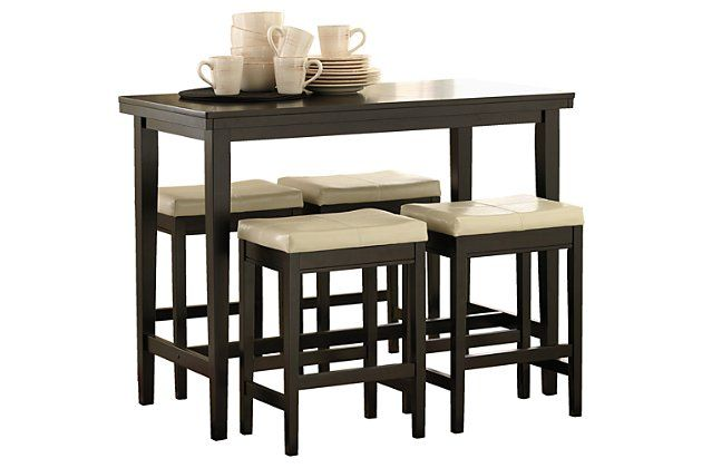 Kimonte 5 Piece Counter Height Dining Room Ashley Furniture