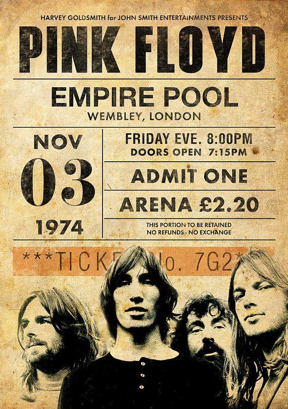 Original Pink Floyd Print: Viven en el Empire Pool, Wembley 1974.  Se trata de un original diseño inspirado en las clásicas actuaciones de artistas legendarios.  Este llamativo cartel estilo vintage grabado sería un gran regalo para cualquier fan de Pink Floyd. Celebra las 1974 actuaciones legendario de cantantes en el Empire Pool, Wembley.  ESTAS IMPRESIONES PUEDEN SER PERSONALIZADAS A OTRA FECHA, ÉNTREME EN CONTACTO CON PARA MÁS DETALLES.  Todas nuestras impresiones se producen los más…