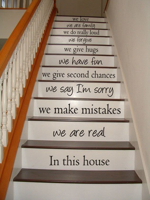 In this house we are real  STAIRCASE  Art Wall by VillageVinePress, $34.95