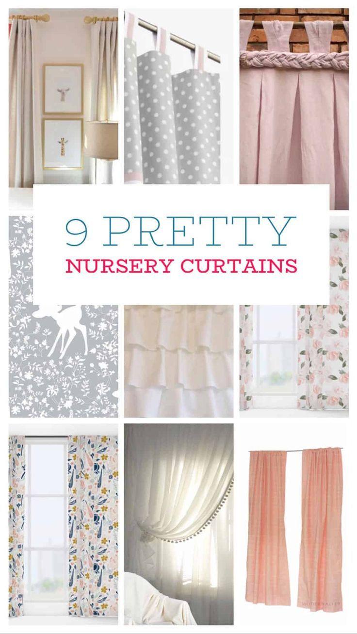 Spotlight On The 9 Cutest Nursery Curtains Nursery Curtains