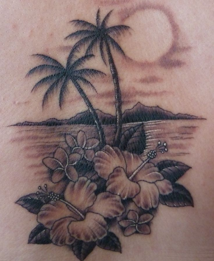 ocean tattoos with lighthouse and palm tree | and finally here is my tattoo my first tattoo which valerie made for ...