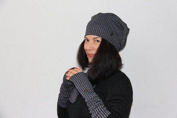 cappellino lungo berretto cappello manicotti di PaolaCollection