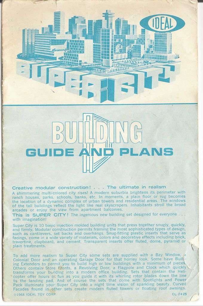 SuperCity Building Set Manual Cover