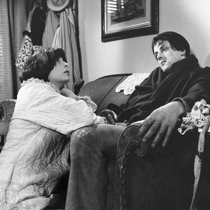 """Sylvester Stallone y Talia Shire en """"Rocky"""", 1976"""