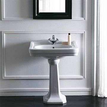 Søjle Theos 60 - Søjle i porcelæn til den klassiske håndvask Theos