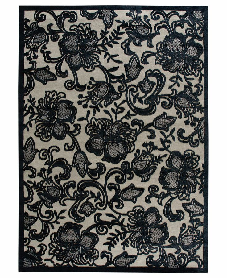 Nourison Rugs, East Hampton Gothic Lace Pewter - Shop All Rugs - Rugs - Macy's