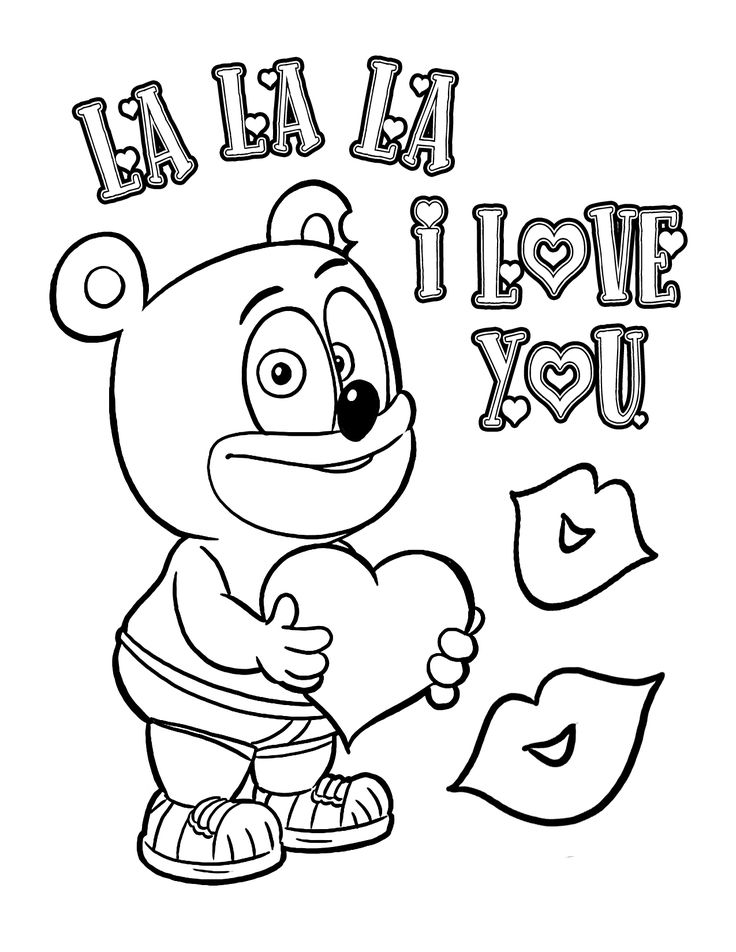 This Page Contains Birthday Teddy Bear With Heart Coloring Preschoolers Toddlers And Kids Love To Take Pages Of The Picnic