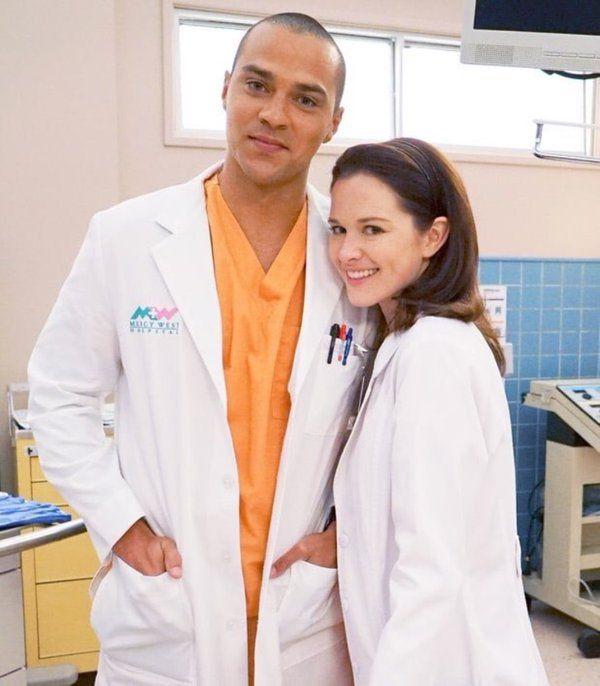 Jesse Williams and Sarah Drew