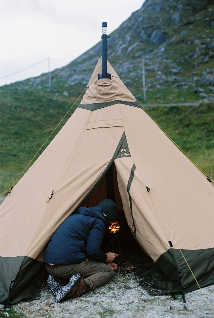 Warming up the tipi tent https www anevay co uk