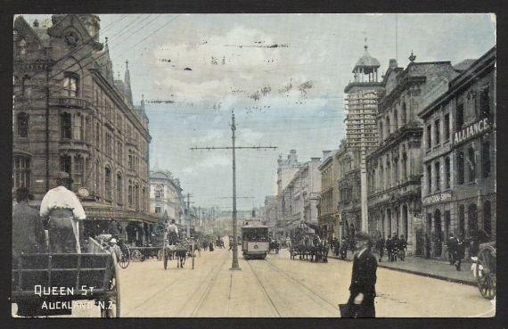Postcard. Queen Street, Auckland NZ