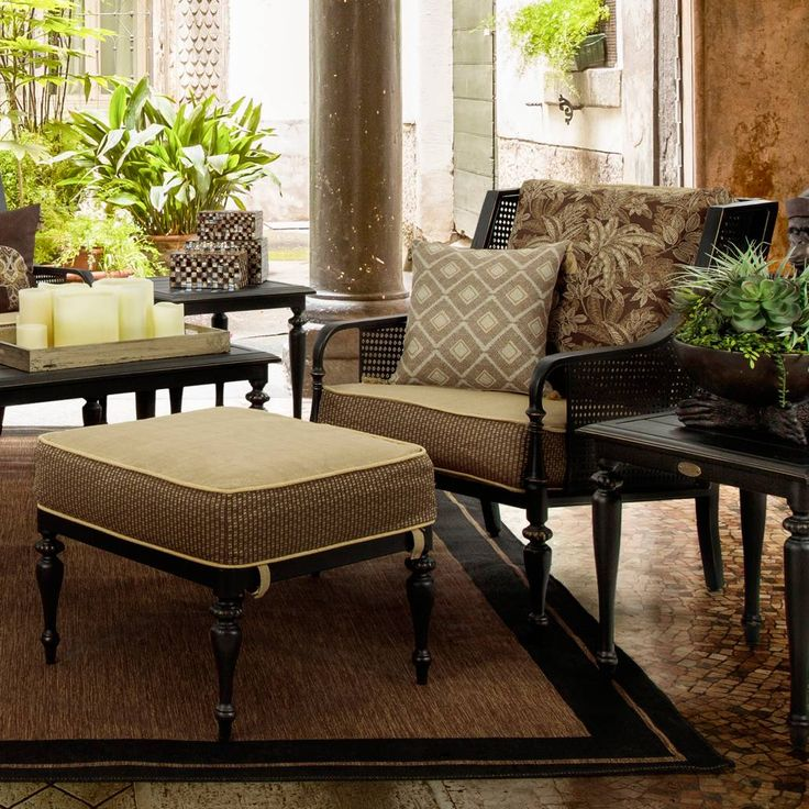 Bombay® Sherborne 2 Piece Chair And Ottoman Set In Brown. Chair And Ottoman  SetOutdoor SeatingLiving Room IdeasBritish Colonial ...