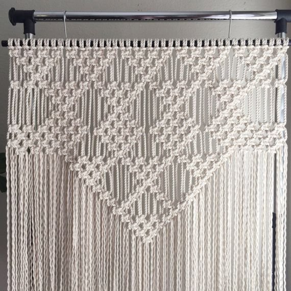 Macrame Patterns/Macrame Pattern/Large Macrame Wall Hanging Pattern/Modern Macrame/Pattern/DIY/Title: Triangles and Diamonds                                                                                                                                                                                 More