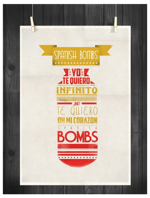 PRINT A4  The Clash  Spanish Bombs  Music by LoversRockShop, $16.00