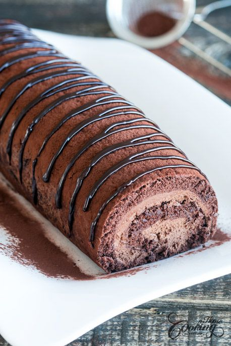 Chocolate Swiss Roll :: Home Cooking Adventure