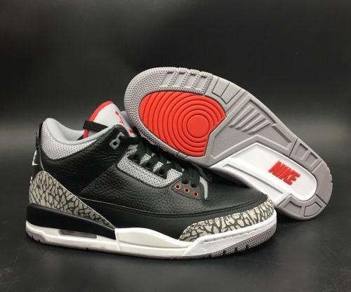 newest ea3fb d98df Factory Authentic Air Jordan 3 OG Black Cement 854262-001 - Mysecretshoes