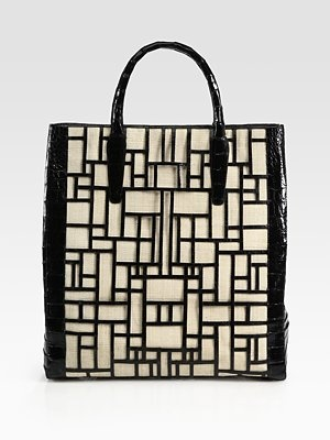 Nancy Gonzalez Snake Skin and Raffia Tote.  Classic yet unusual.  Perfect for spring