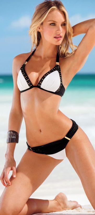 Swimwear fashion & Accessories☆☆☆ / Candice Swanepoel Cool swim wear pose