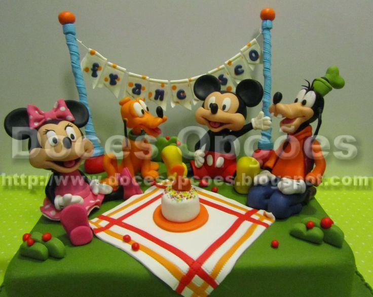 Doces Opções: Bolo Piquenique com a Minnie, o Pluto, o Mickey e ...