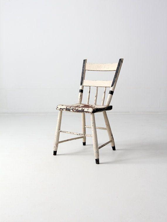 antique chaise primitif peint chaise bois art populaire par 86home