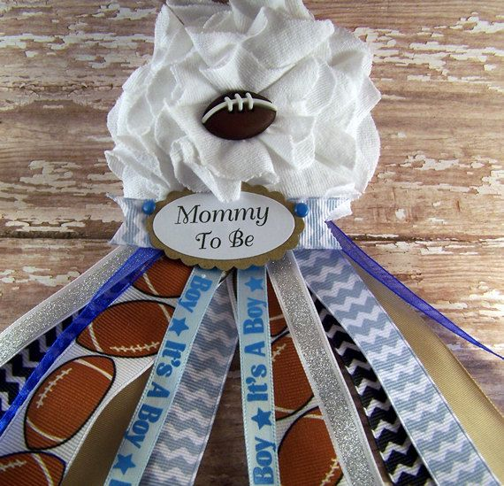 Football Mommy To Be Corsage Ready To Ship by BloomingParty, $16.00