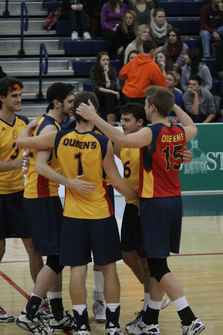 The Gaels celebrate a point against Guelph  (Ian MacAlpine)