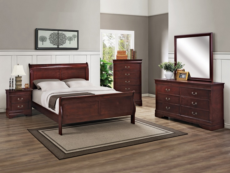 Louis Phillip Cherry Finish 6 Pc Bedroom Set Kimbrell S
