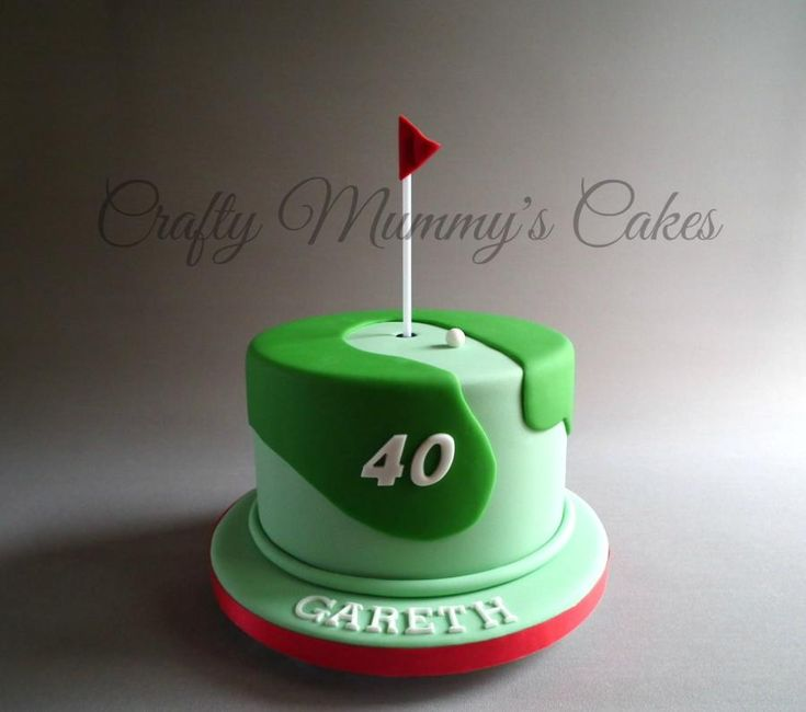 Golf Cake - Cake by CraftyMummysCakes (Tracy-Anne) https://www.facebook.com/CraftyMummysCakes
