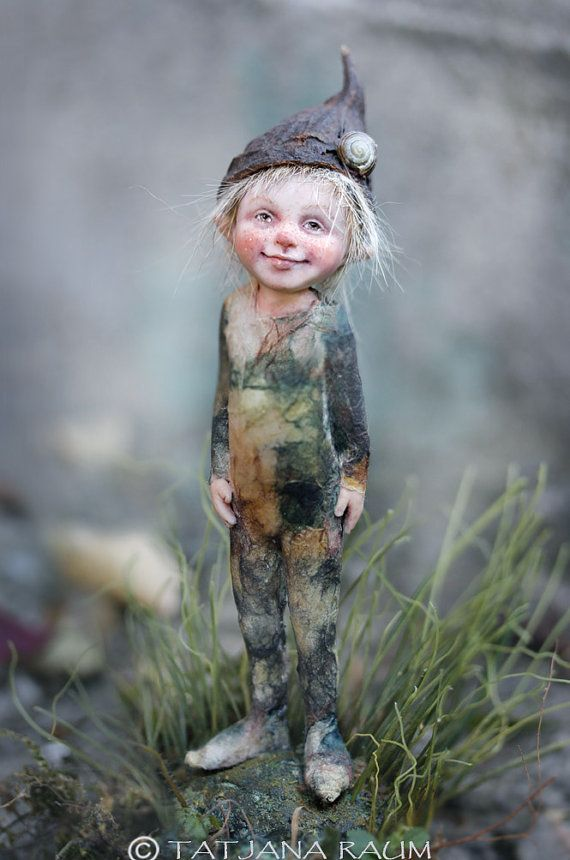 :: Crafty :: Clay :: cute pixie boy sculptured of polymer clay