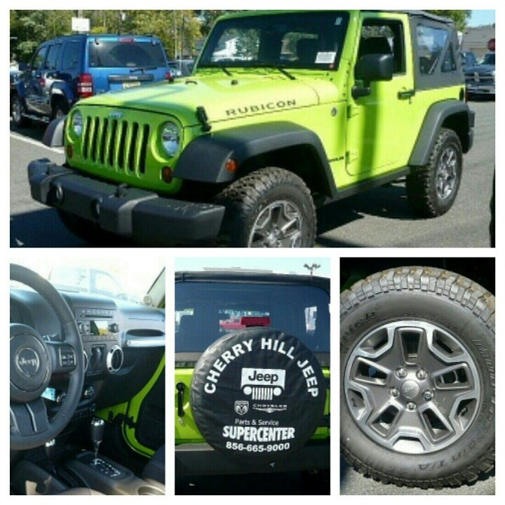 2013 Jeep Wrangler Rubicon 4WD - #cherryhilljeep #jeepwrangler #cherryhillnj #limegreen #greenmachine #geckopearl #automatic #softtop #jeepgirl #jeepparts #jeepwave #itsajeepthing #britnyfox Visit our website for more information and Jeep #awesomeness!